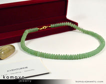 Green Aventurine Necklace - Men'S Choker Or Princess Necklace For Women