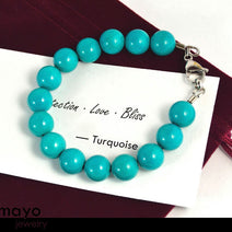 "TURQUOISE JEWELRY SET <span class=""subtitle"">- Womens' Choker Necklace and Bracelet </span><span class=""findings"">- Stainless Steel Findings </span>"