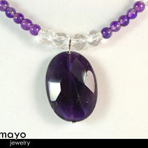 PISCES JEWELRY SET - Necklace and Bracelet with Amethyst Pendants