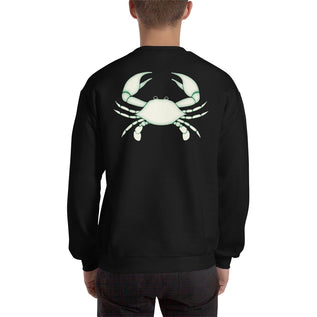 Cancer Sweatshirt For Men - Zodiac Symbol Print On Front And White Crab On Back