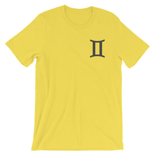 "GEMINI T SHIRT <span class=""subtitle subtitle-1"">- Sign Symbol Text Design </span><span class=""subtitle subtitle-2"">- Zodiac Shirt for Men </span>"