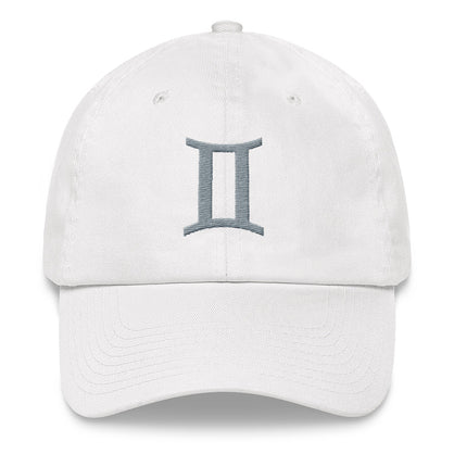"GEMINI CAP <span class=""subtitle subtitle-1"">- Zodiac Symbol Text Baseball Cap </span><span class=""subtitle subtitle-2"">- Dad Hat </span>"