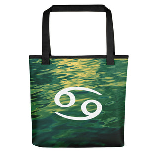 Cancer Tote Bag - Zodiac Symbol Text Design