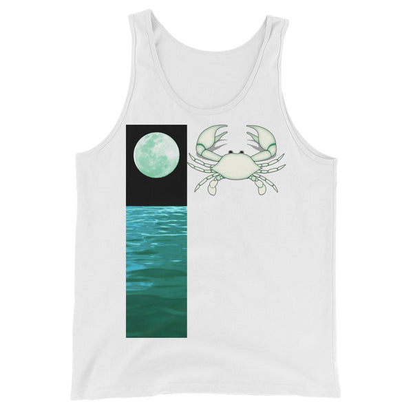 Cancer Tank Top - Zodiac Element And Ruling Planet Design