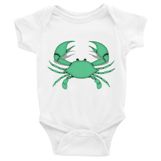 Cancer Onesie - Zodiac Symbol - Green Crab Design