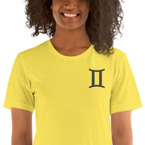 "GEMINI T SHIRT <span class=""subtitle subtitle-1"">- Sign Symbol Text Design </span><span class=""subtitle subtitle-2"">- Zodiac Shirt for Women </span>"