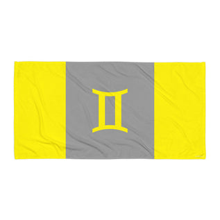 "GEMINI TOWEL <span class=""subtitle subtitle-1"">- Zodiac Color and Symbol Text Design </span><span class=""subtitle subtitle-2"">- Beach Towel </span>"