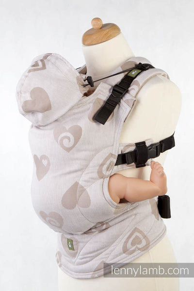 Lenny Lamb SWEETHEARTS BEIGE AND CREAM REVERSE Ergonomic Soft Structured Carrier, Second Generation -  - 1