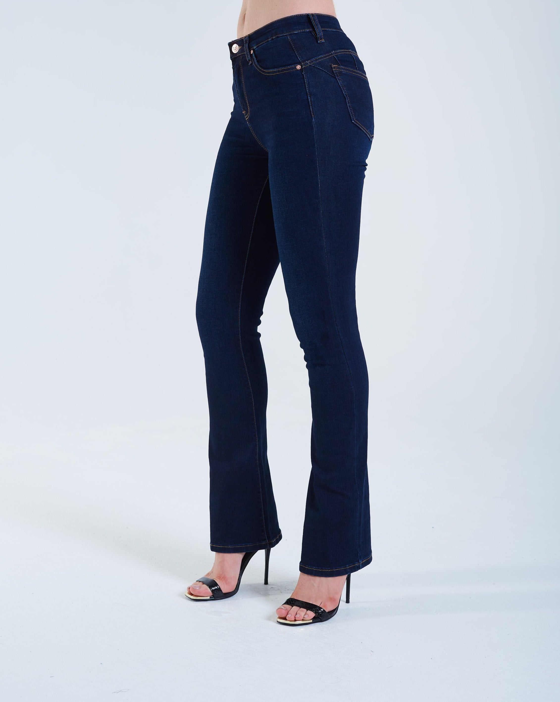 Gina High Rise Bootleg Dark Blue
