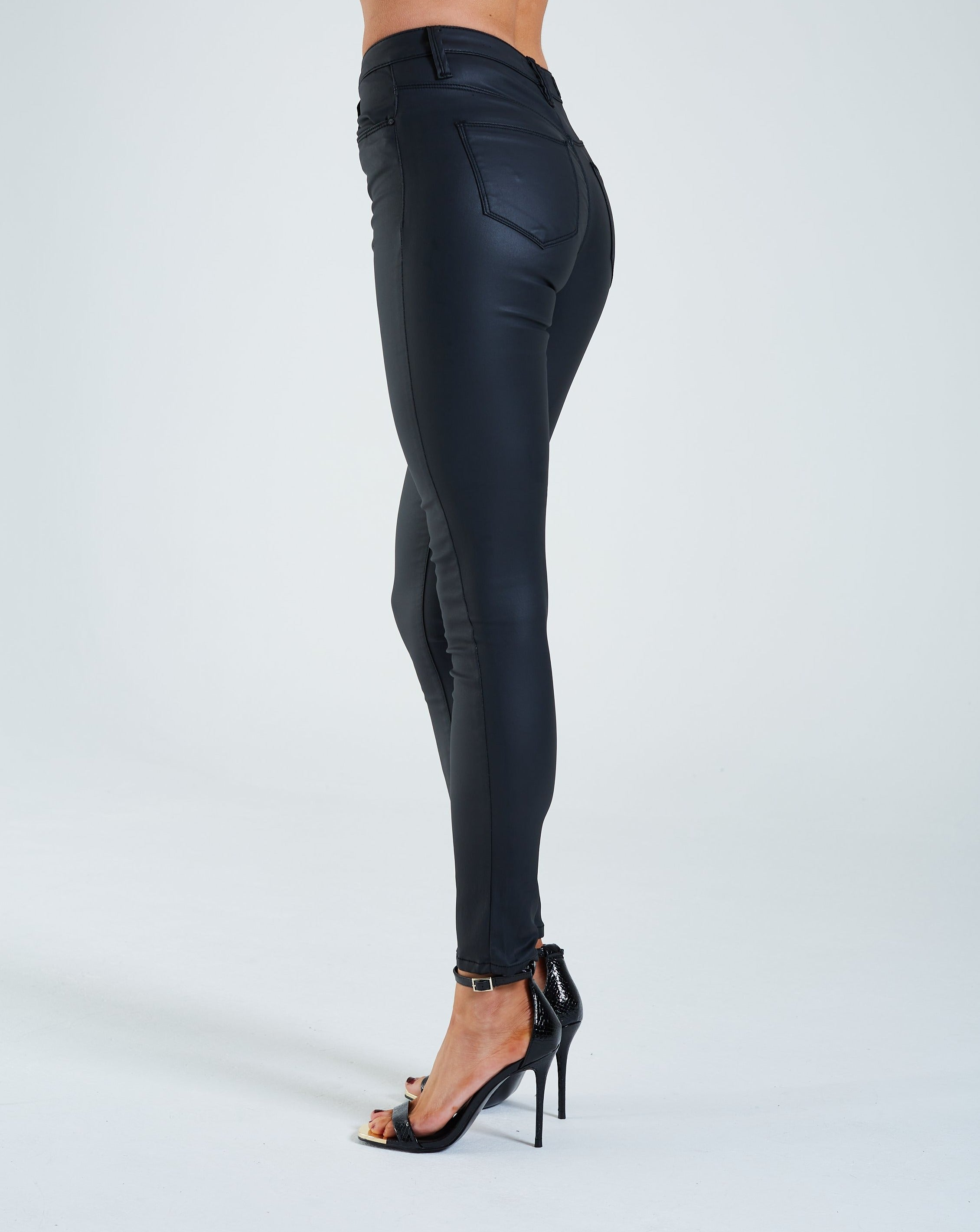 Dawn Leather Look Jean Black