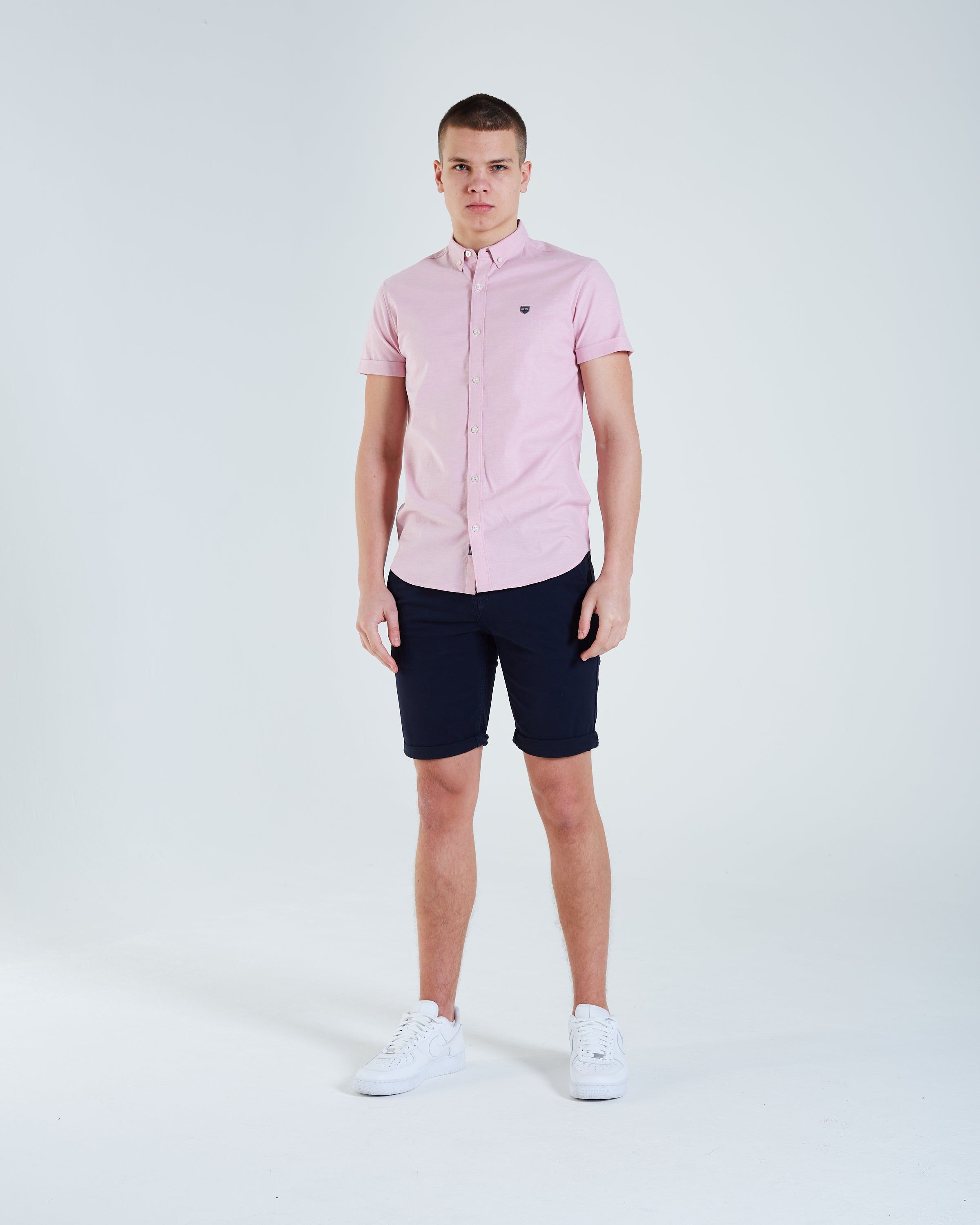 Ivor S/S Shirt Heather Rose