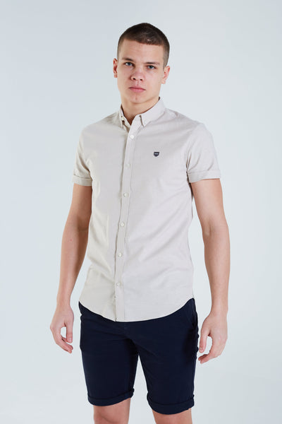 Ivor S/S Shirt Almond Butter