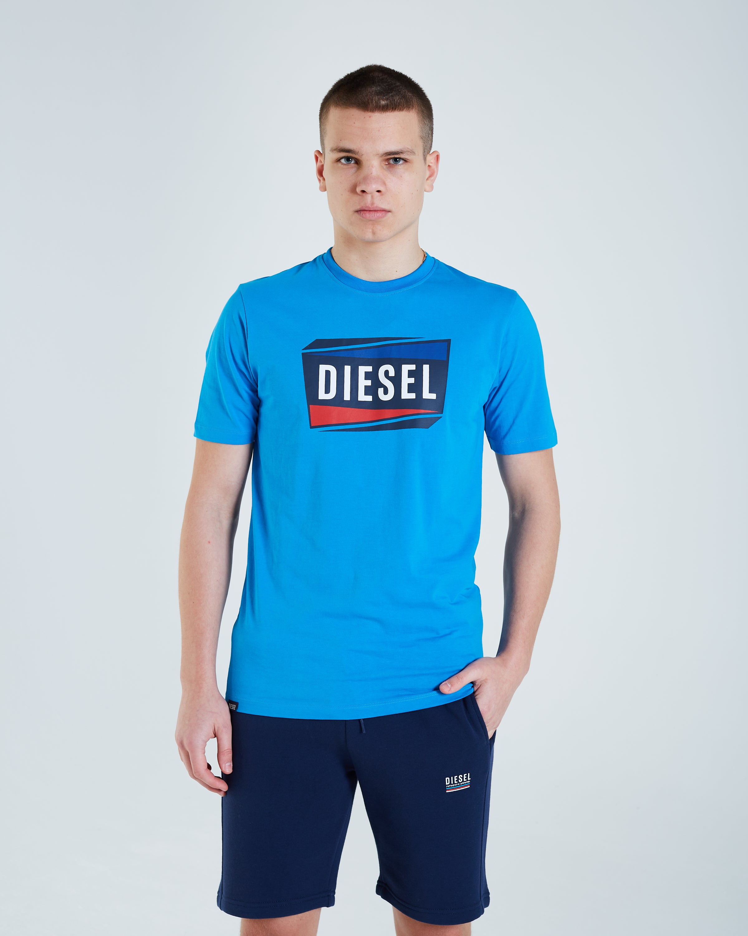 Yannick Tee Blue aster