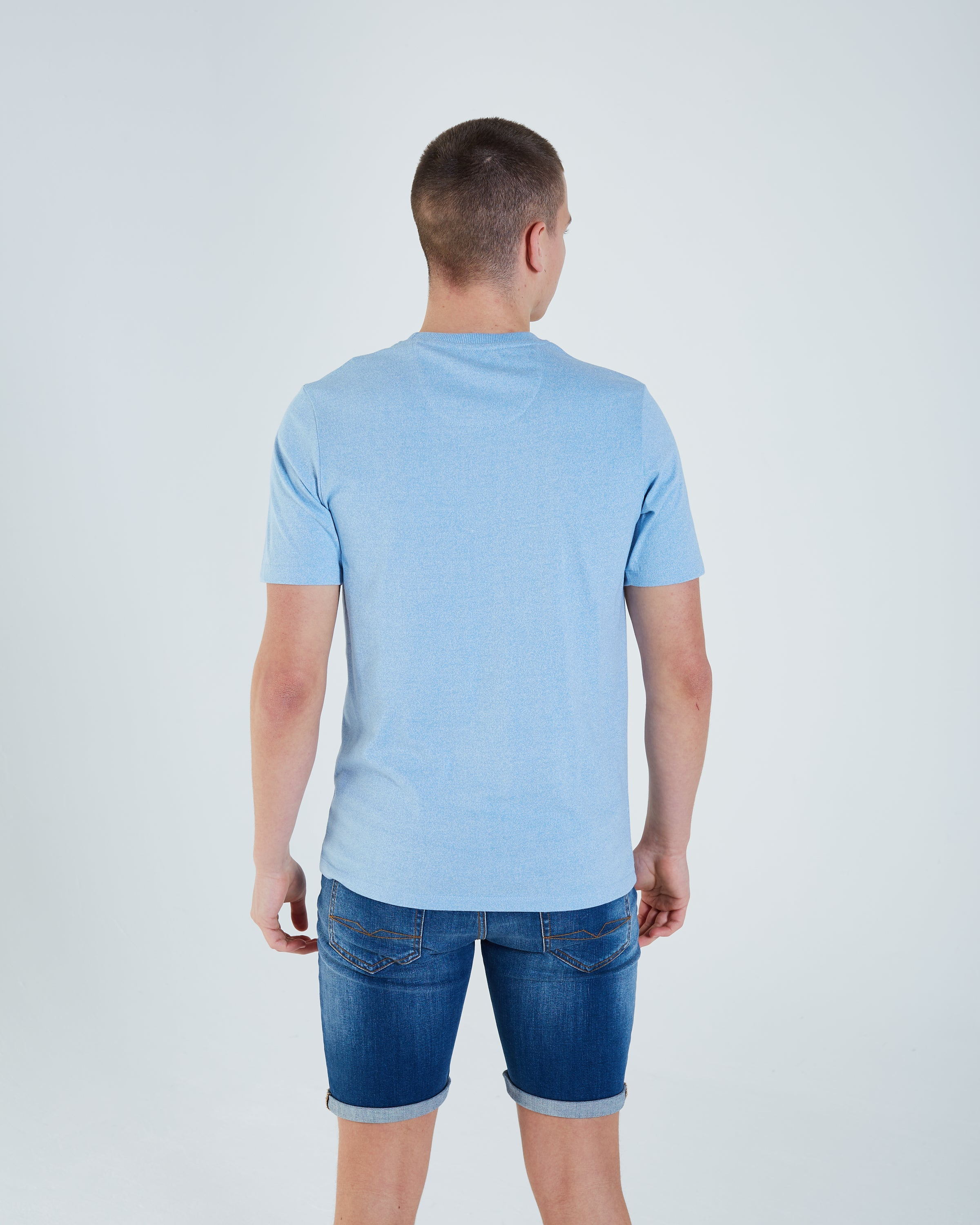Levon Tee Blue Breeze Mel