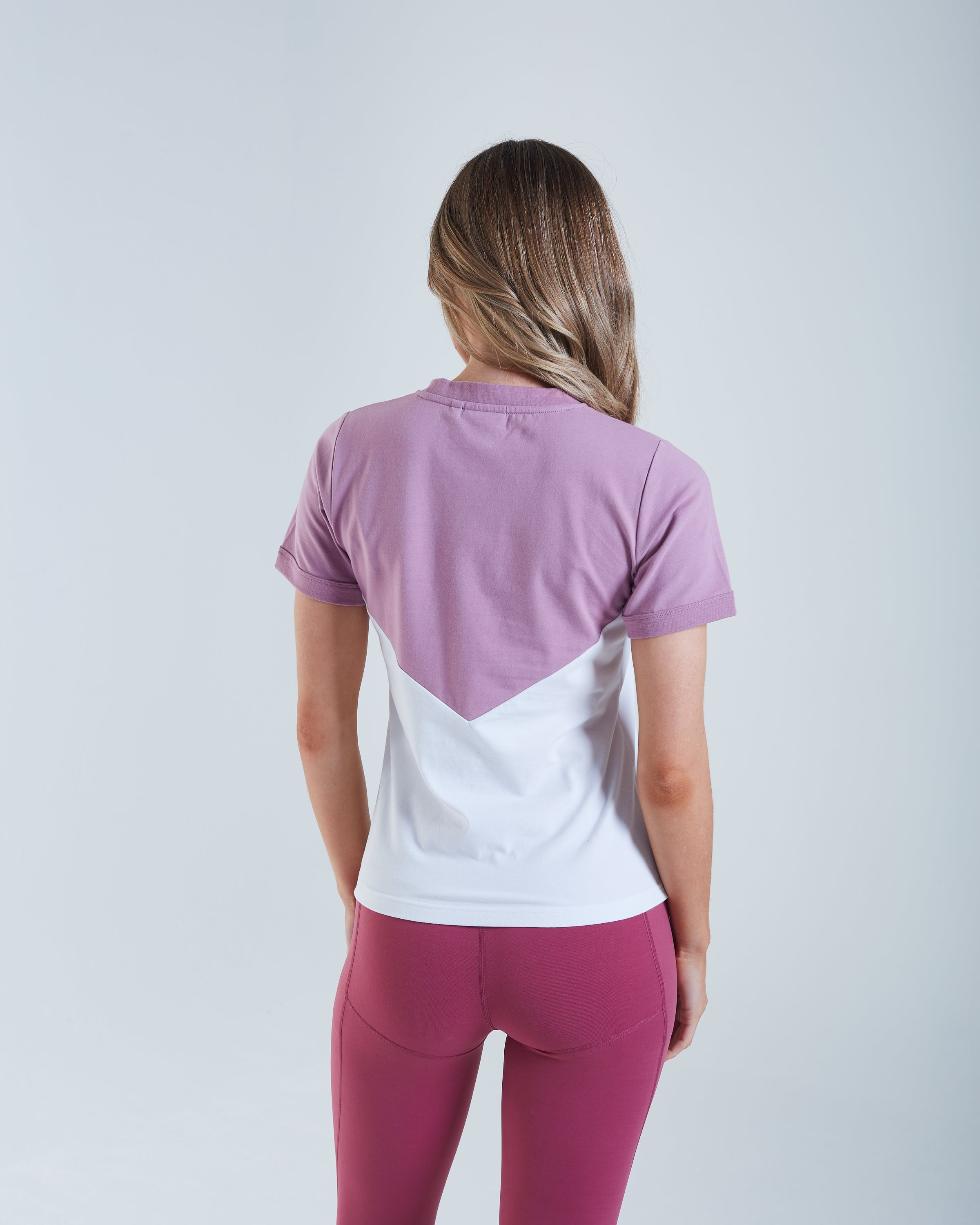 Chrysta T-Shirt Mauve / White