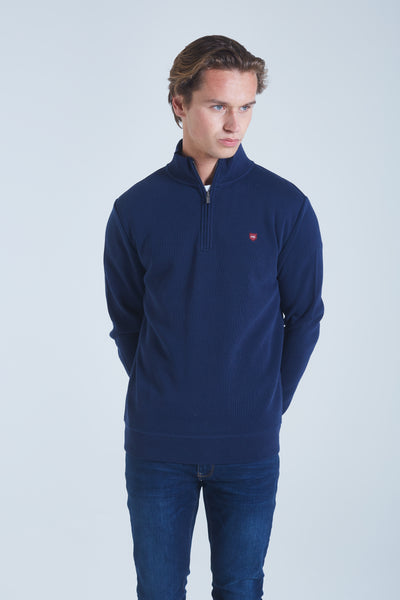 Roy Half Zip Navy Iris