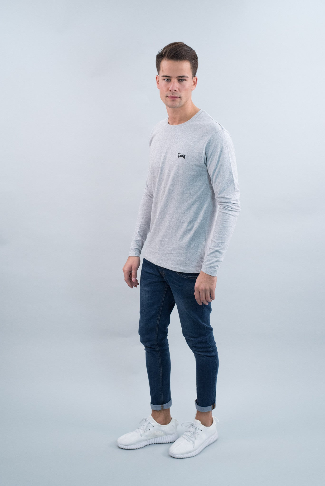Basic Scott L/s Tee PEBBLE