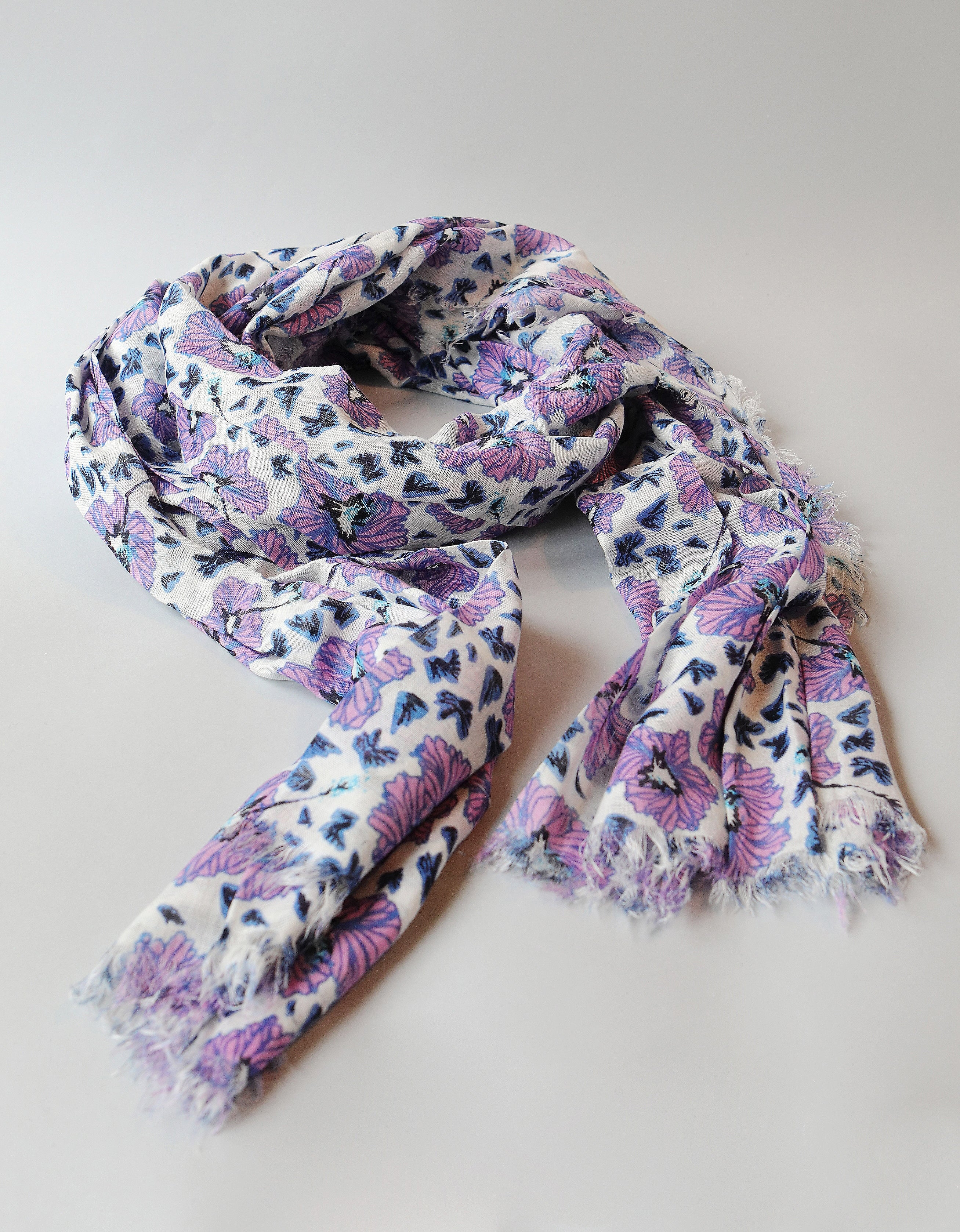 Kimberley Woven Scarf ORCHID BOUQUET
