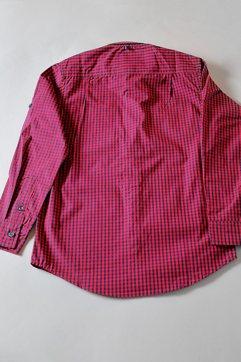 DOYLE CHECK SHIRT RED / NAVY CHECK