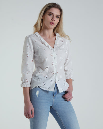 Gemma Blouse White