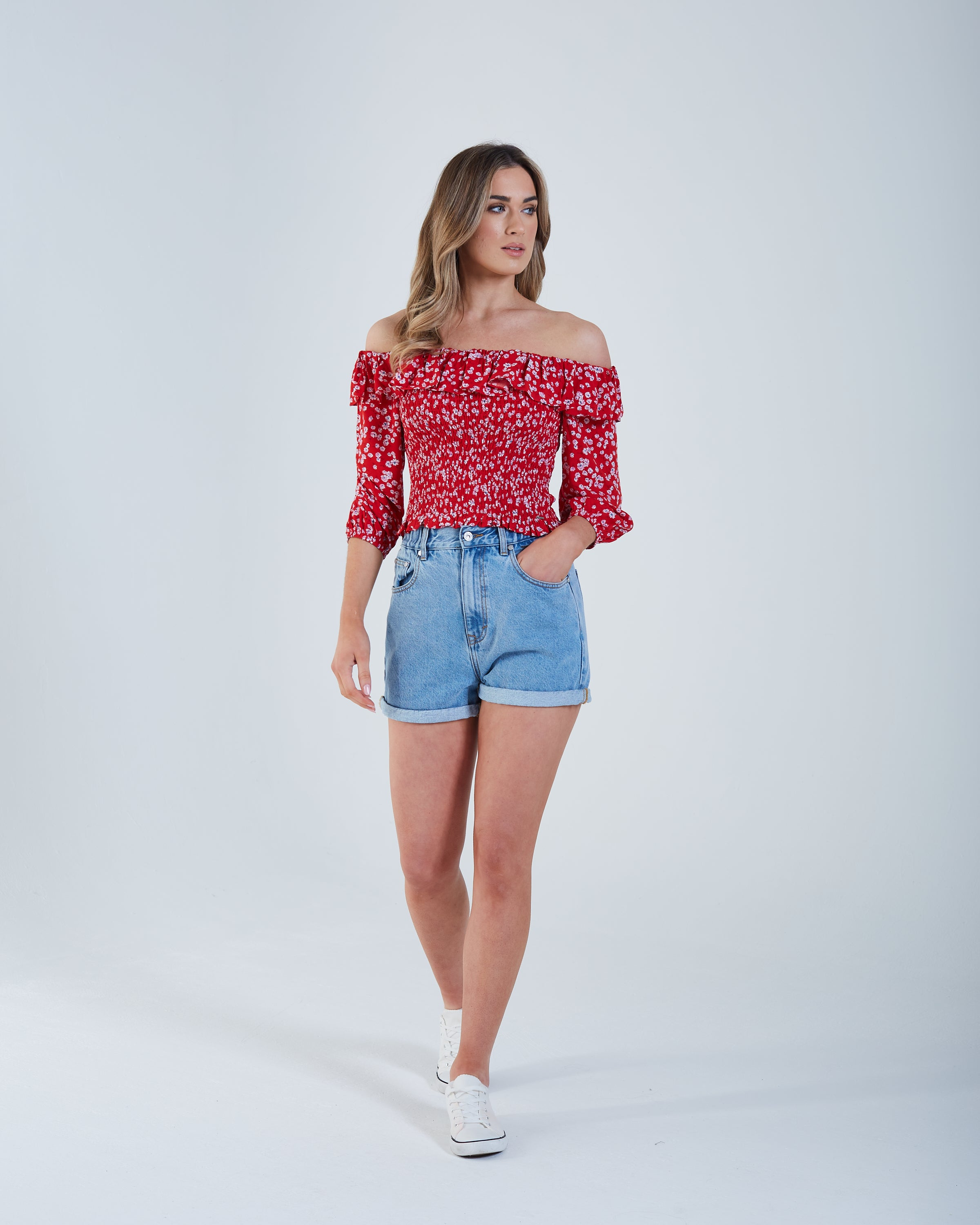Axelle Top Red Floral