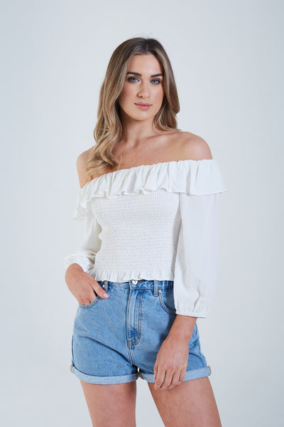 Axelle Top Optic White