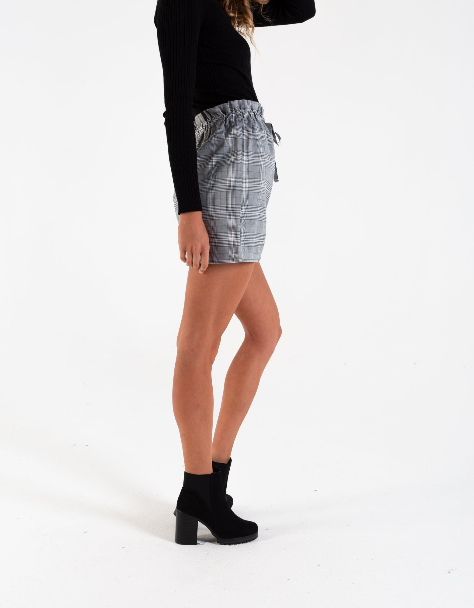 DEANNA SKIRT GREY CHECK