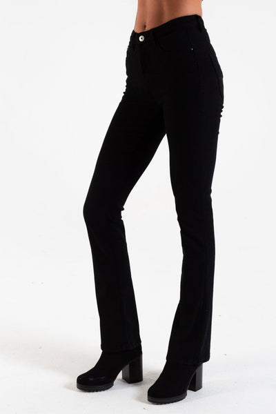 Ashley High Waist Bootcut Black