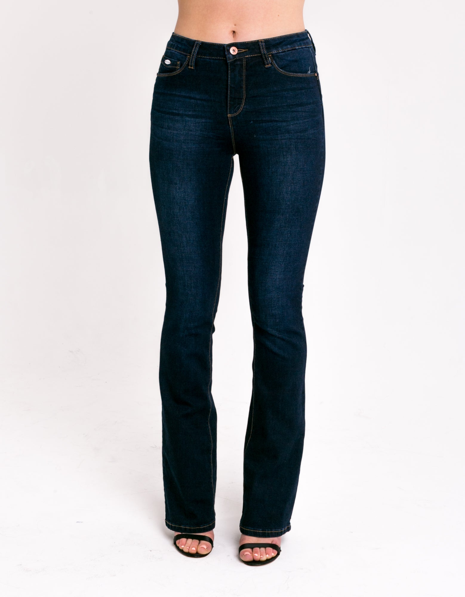 Ashley High Waist Bootcut - Dark Blue
