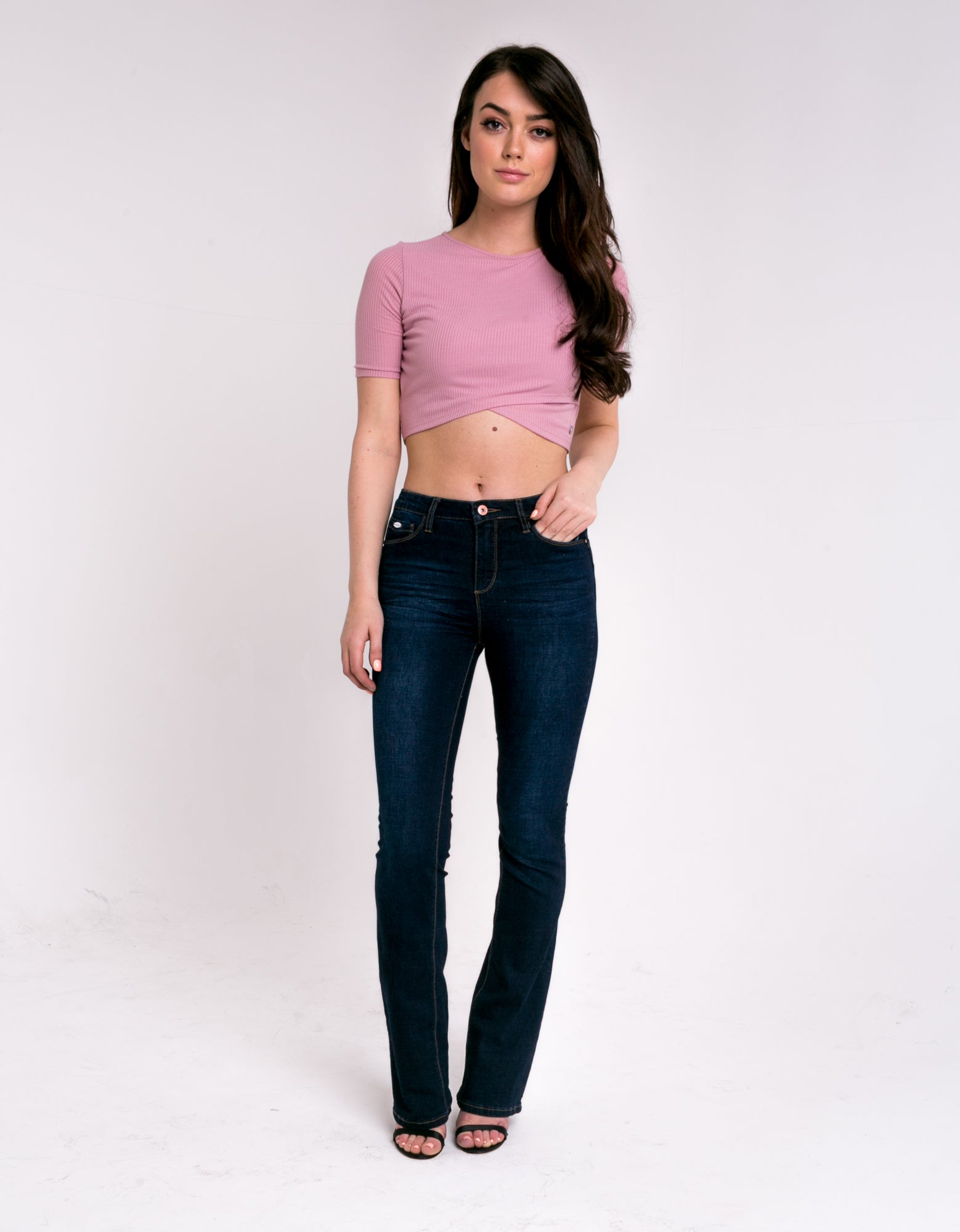 Ashley High Waist Bootcut Dark Blue