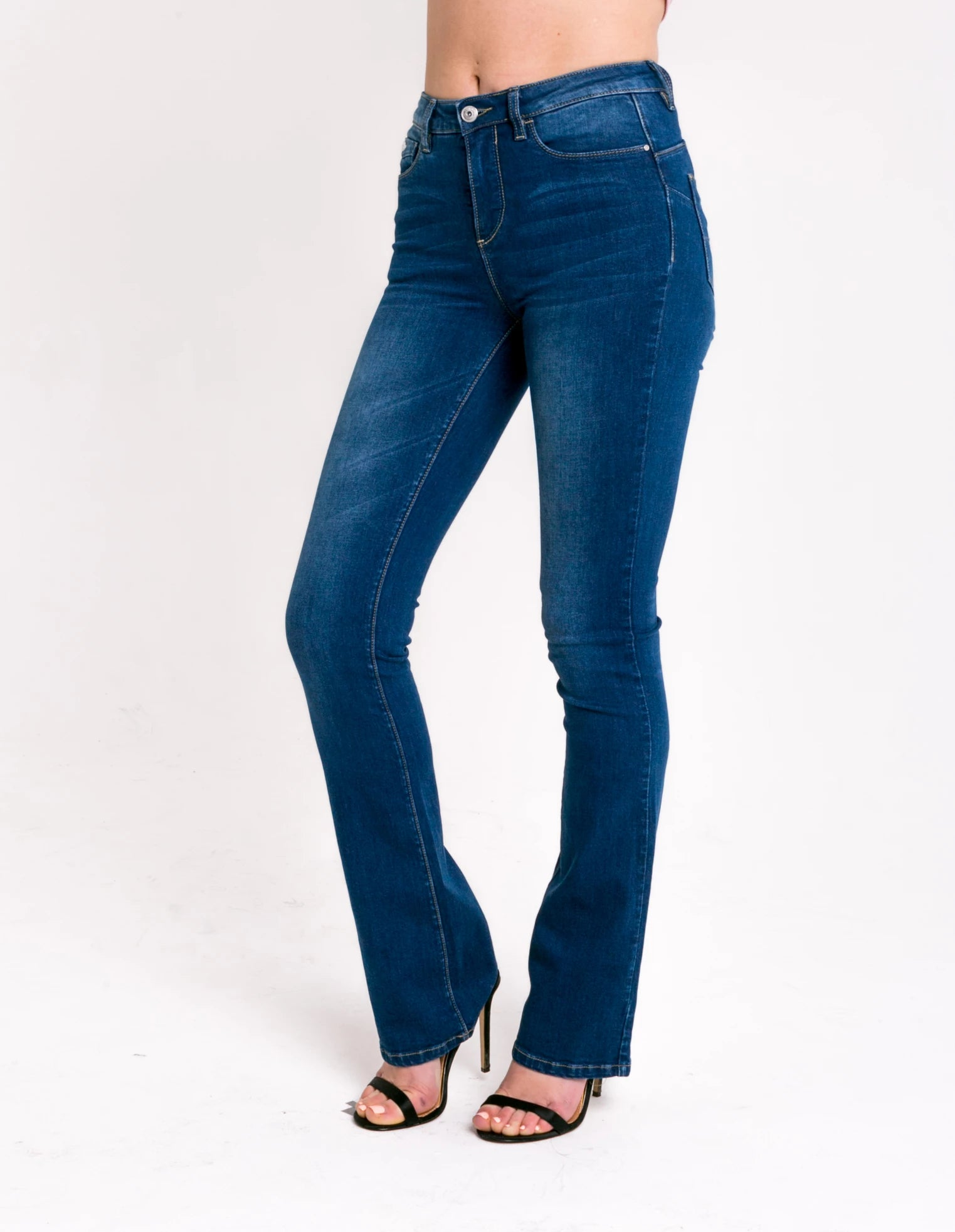 Ashley High Waist Bootcut - Blue