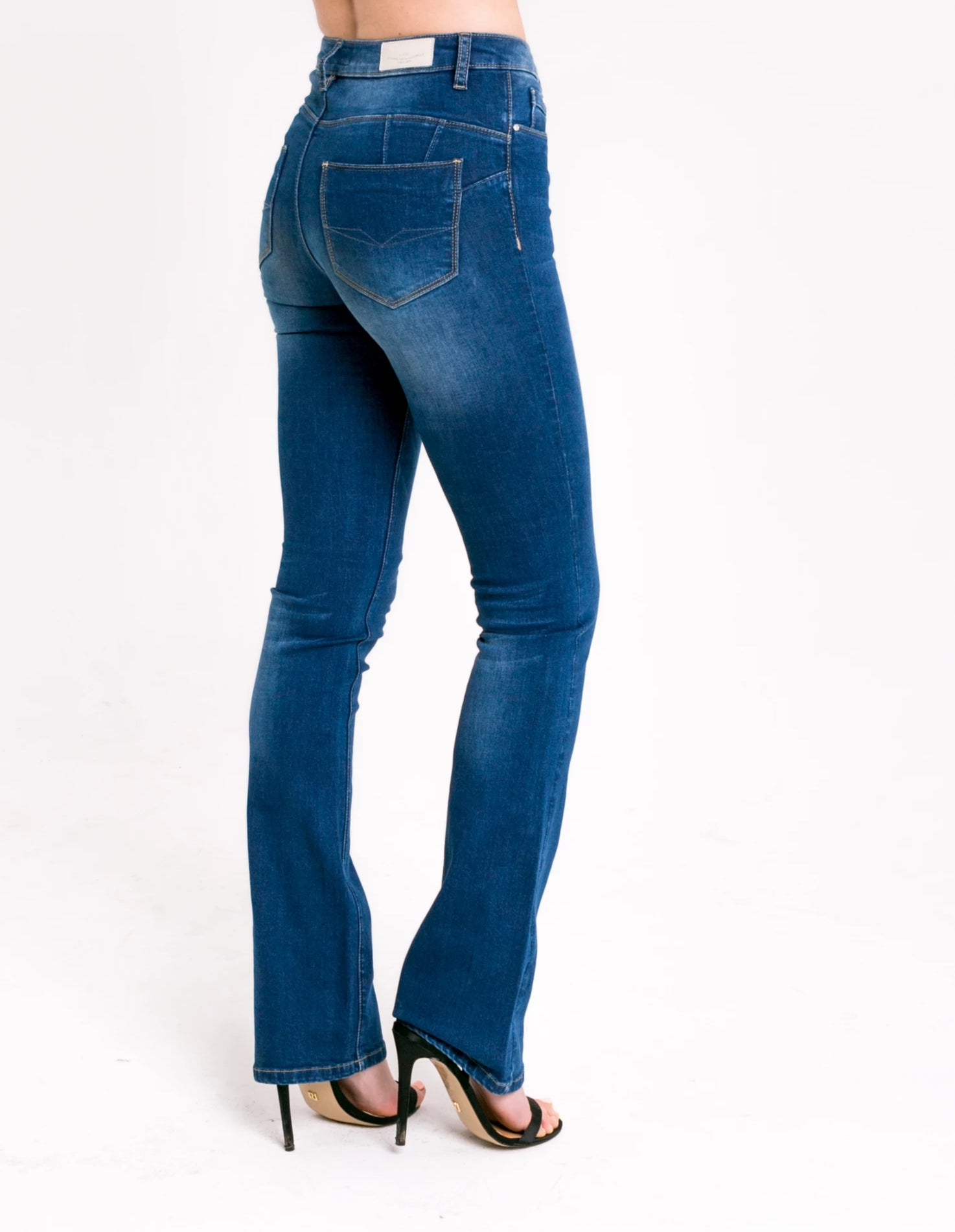 Ashley High Waist Bootcut Blue