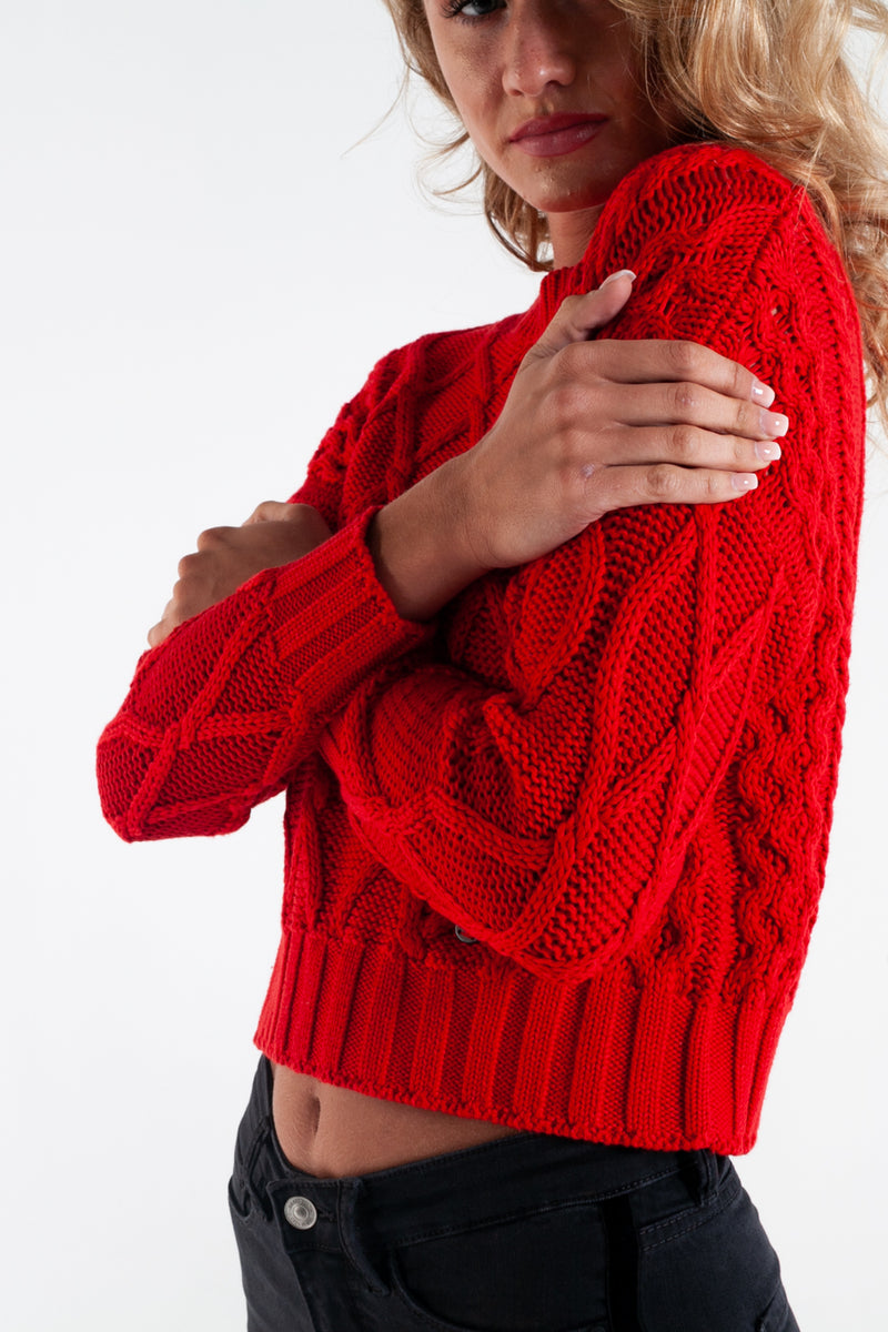 MARCELLE KNIT FLAME SCARLET