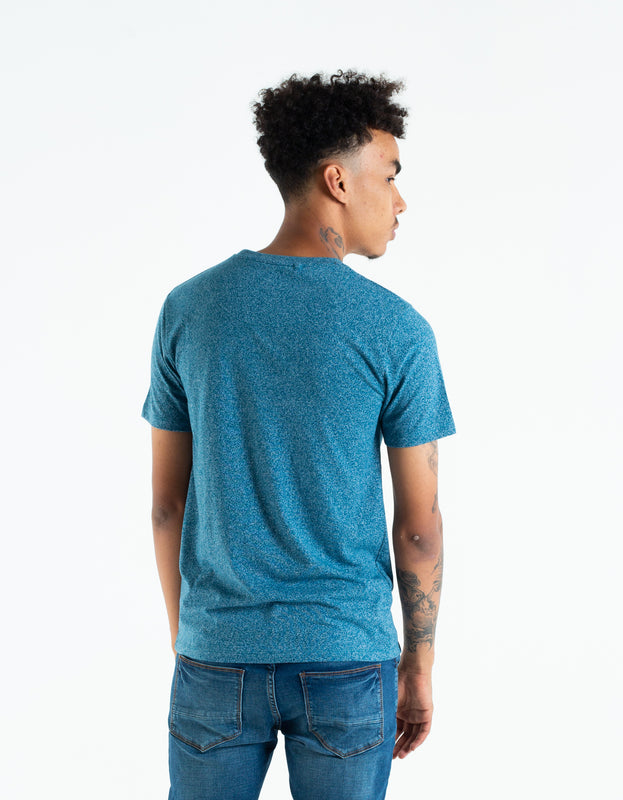 BASIC MATT O NECK TEE EMERALD SEA