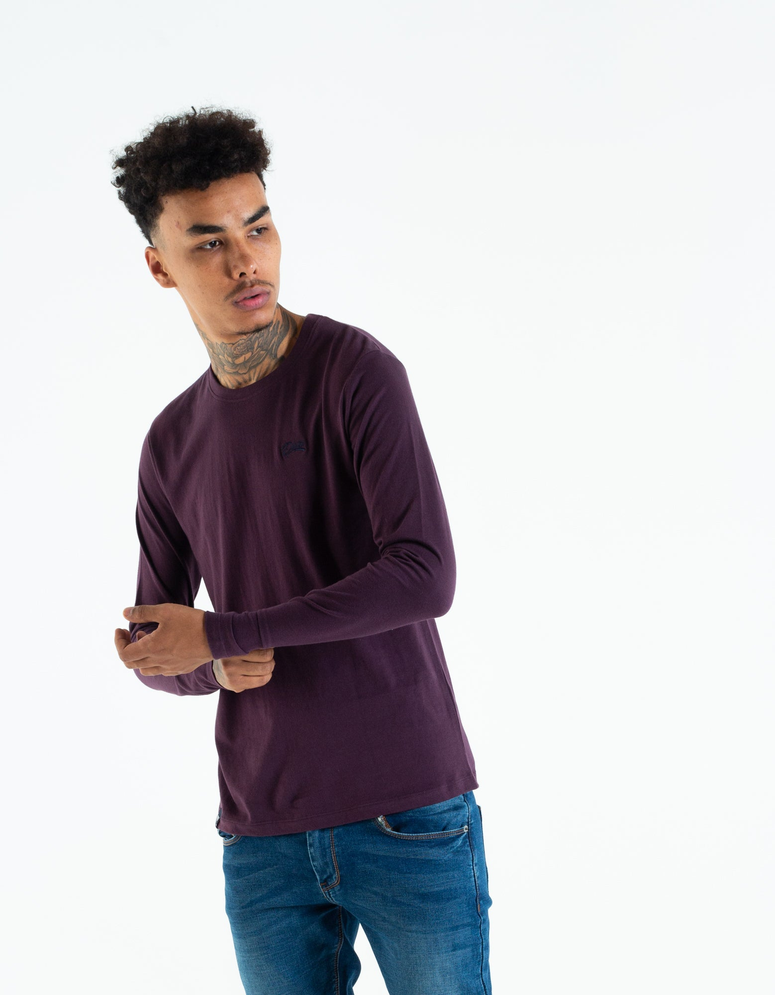 BASIC SCOTT L/S TEE BLACK CHERRY