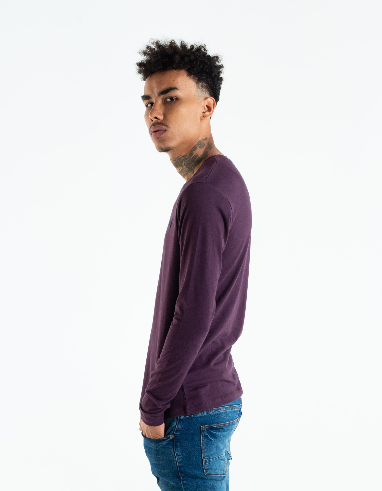 Basic Scott L/S Black Cherry