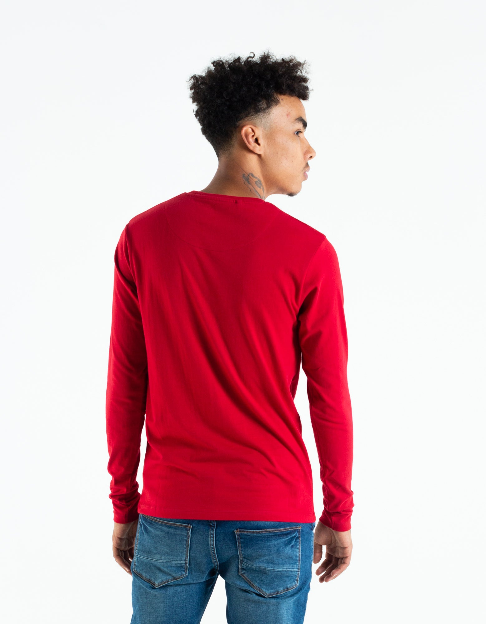 BASIC SCOTT L/S TEE JESTER RED