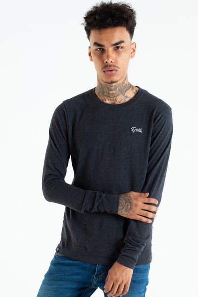 basic scott l/s tee coal dust