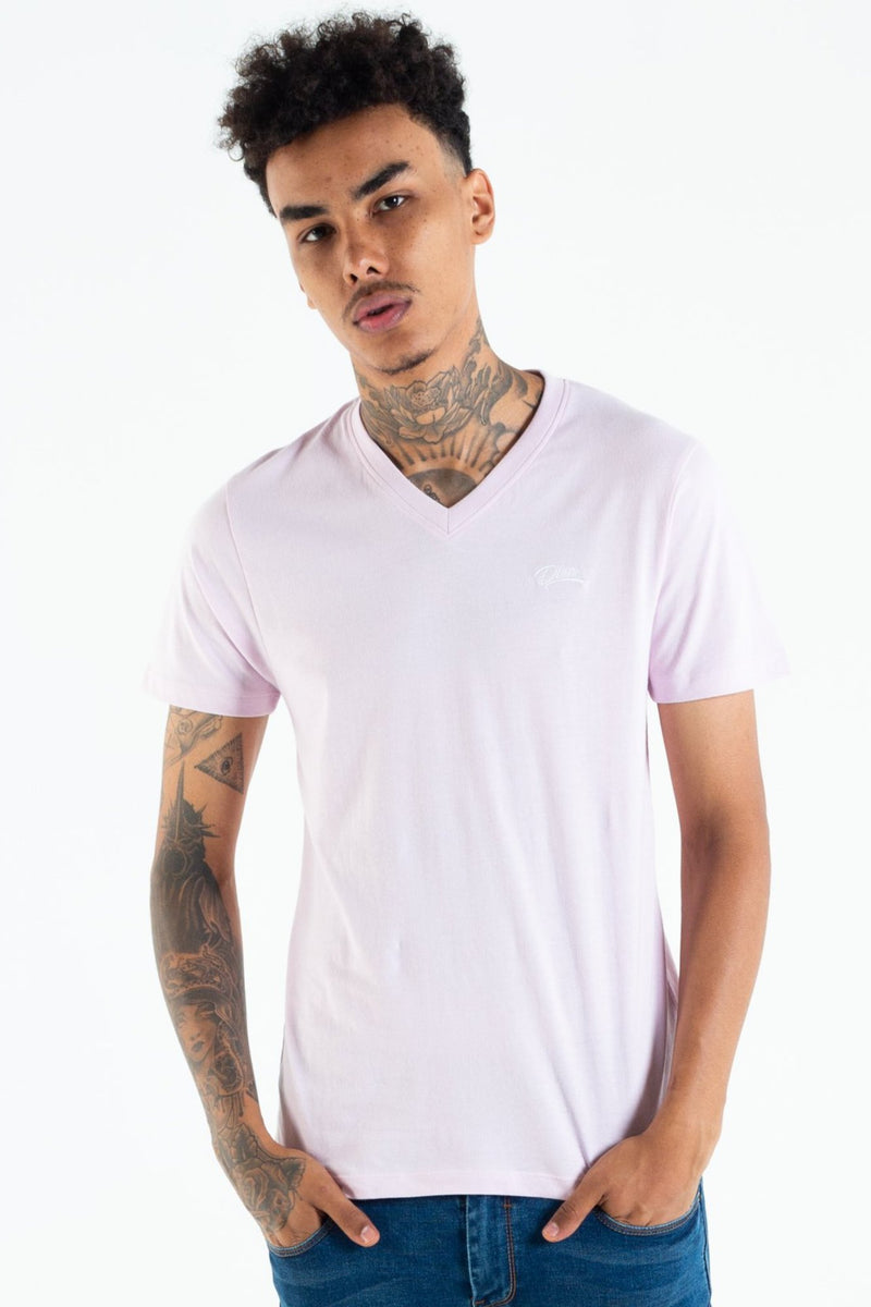BASIC SCOTT V NECK TEE WINSOME ORCHID