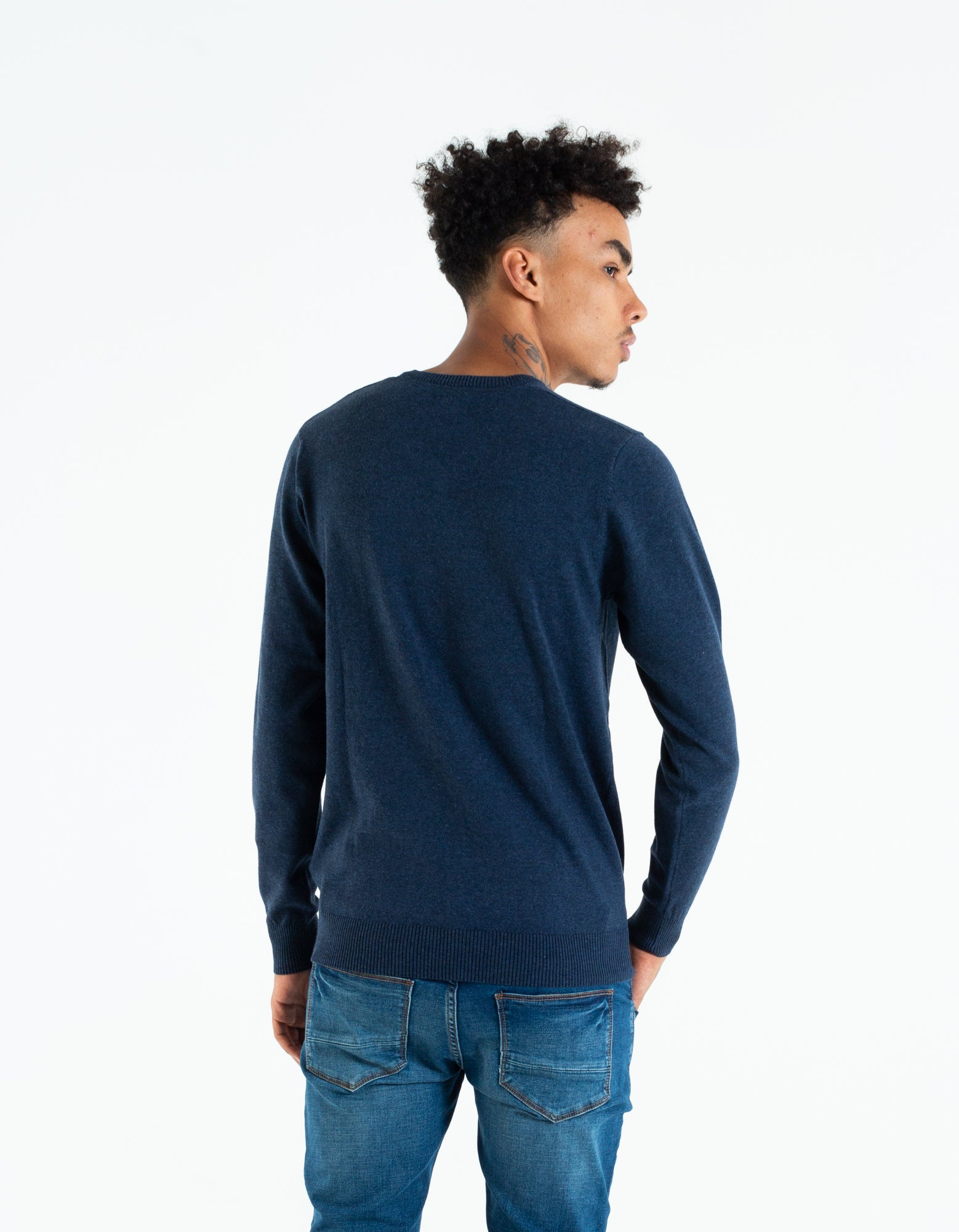 Tom V Neck Navy