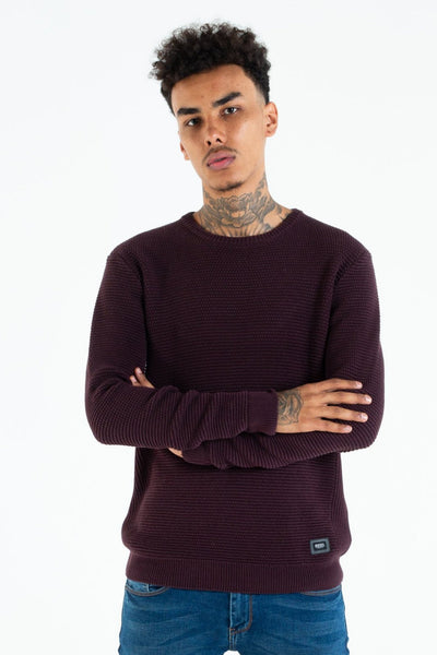 carey knit black cherry
