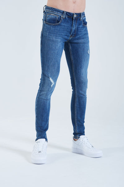 Saxon Skinny Fit Washed Blue (scuffed)