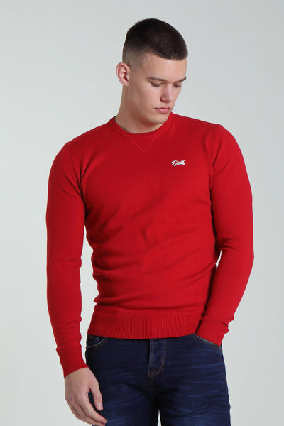 Nolan Round Neck Red Melange