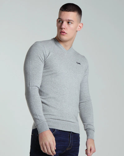 Hans V Neck Grey