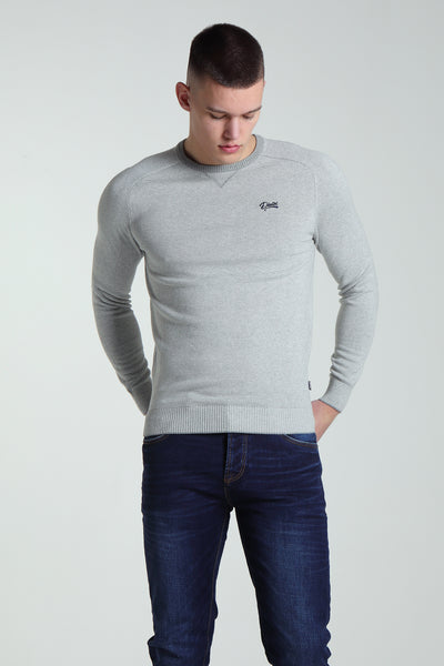 Joel Stripe Knit Grey