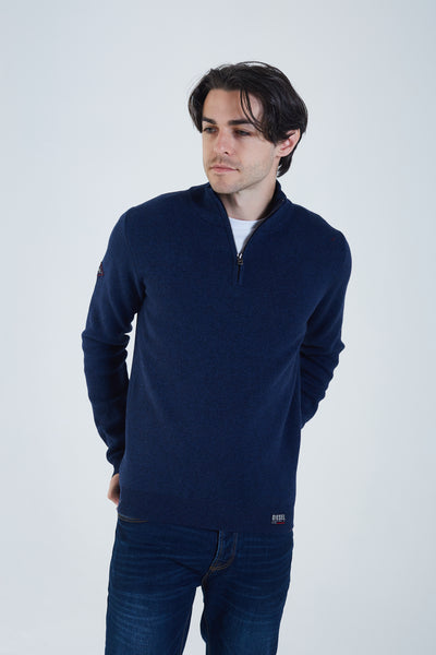 Colin Half Zip Eclipse Blue Mel