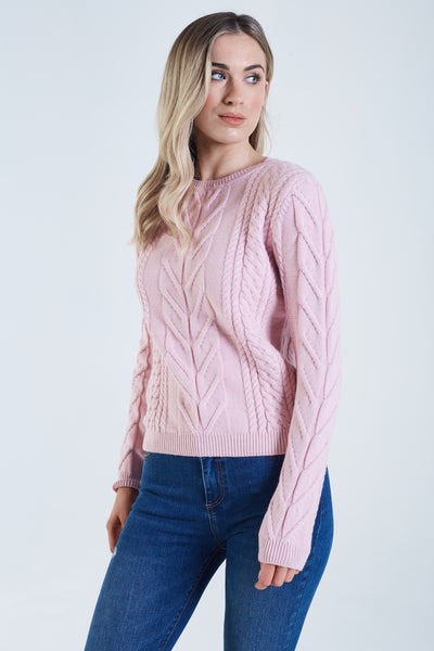 Tilda Cable Knit Chalk Pink