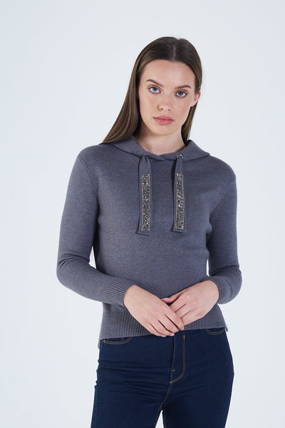 Audrina Knit Charcoal Mel