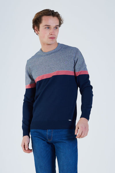 Michael Knit Navy Iris