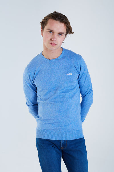 Dale Round Neck Blue Breeze Mel